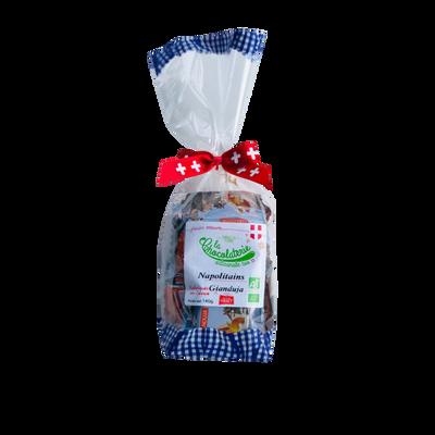 Chocolats napolitains lait et gianduja bio LA CHOCOLATERIE ARTISANALE, sachet de 140g