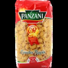 Coudes rayés PANZANI,paquet de 500g