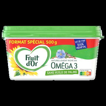 Fruit d'Or Margarine Demi Sel 50% Mg Sans Huile De Palme Oméga 3 Fruit D'or, 500g
