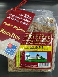 Duo de riz audois (rouge +blanc) 500gr