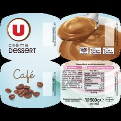 Crème dessert au café U, 4x125g