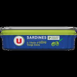 Sardine à l'huile d'olive vierge extra U, boîte de 135g