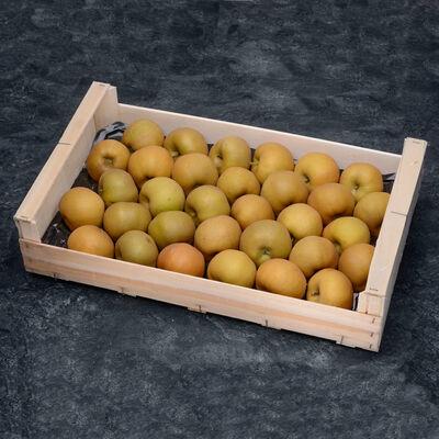 Pomme reinette d'armorique,calibre 190/215, catégorie 1,France (en Mayenne), la pièce