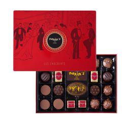 Coffret métal 22 chocolats MAXIM'S DE PARIS EPICURE Sélection