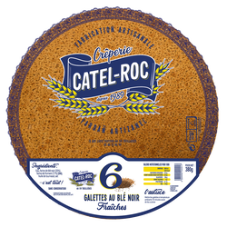 *6 galettes au blé noir Noir Fraiches, CATEL ROC,380g