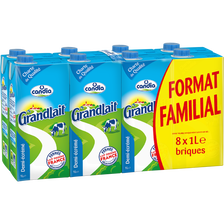 Candia Lait Uht 1/2 Écrémé Fermes Sélect. Grandlait Bk 8x1l F.fami.