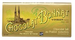 CHOCOLAT AU LAIT PRALINE-NOISETTES 100G - BONNAT CHOCOLATIER