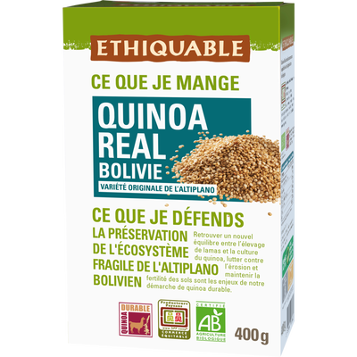 Quinoa real Bolivie Bio ETHIQUABLE, 400g