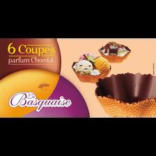 Coupes parfum chocolat LA BASQUAISE, 6 unités, 105g