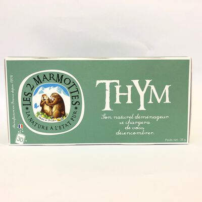 Infusion thym LES 2 MARMOTTES 30 sachets 35g