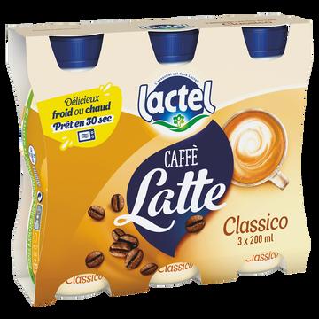 Lactel Boisson Lactée Sucrée Au Café Uht - Lactel - Bouteille 3x200ml