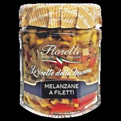 Mélange de légumes aubergines et poivrons à l'Huile d'Olive et aux arômates FLORELLI, 200g