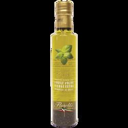 Huile d'olive basilic FLORELLI, bouteille de 250ml