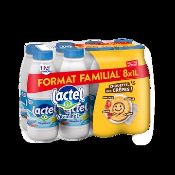 Lactel Lait Demi- Écrémé Uht- Lactel - 8x1l