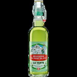 Bière verte au Génépi MONT BLANC 5.9°, bouteille de 75cl