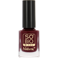 Vernis à ongles, soin et couleur, à l'huile de ricin biologique 01 séduisant rouge -Sans étui
