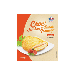 Croc'jambon de dinde fromage, 8x100g
