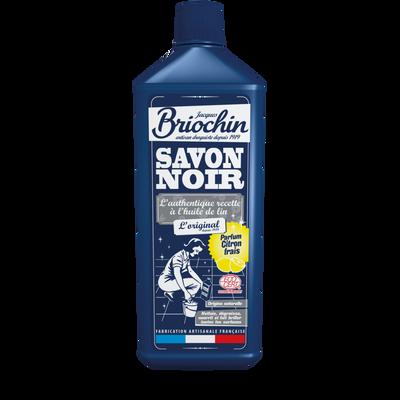 Savon noir liquide parfum citron frais écocert BRIOCHIN, flacon de 1 litre