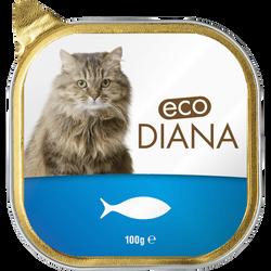 Pâté au poisson pour chat eco diana, barquette de 100g