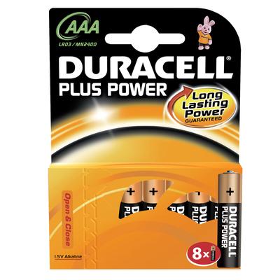 8 Piles Power Plus LR03 AAA DURACELL