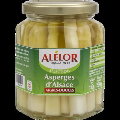 Asperges d'Alsace aigres douces ALELOR, 260g