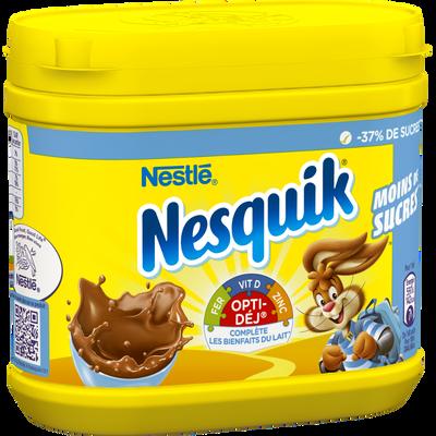 Poudre chocolatée instantanée moins de sucre Nesquik NESTLE,boîte en plastique de ,NESQUIK,