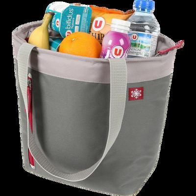 Lunch bag isotherme U, 5L, gris/bordeaux