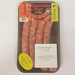 Saucisses de porc saveur lorraine raisins, MADIVIAL, 300g