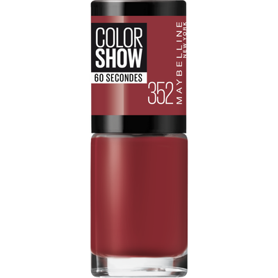 Vernis à ongles colorshow 352 downtown red MAYBELLINE, nu