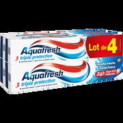 Aquafresh Dentifrice Triple Protection Menthe Fraîche Aquafresh, 4 Tubes De 75ml