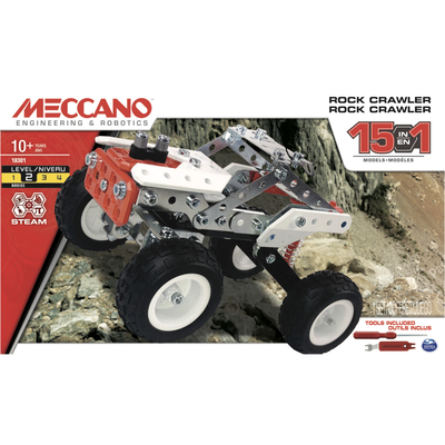 BUGGY ROUGE MECCANO-15 MODELES CONSTRUCTIBLES POSSIBLE