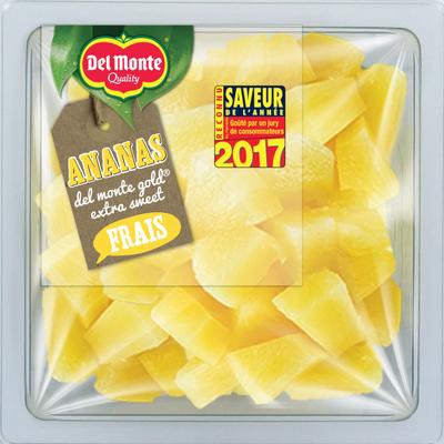 Ananas Frais extra sweet, DELMONTE, barquette, 400g