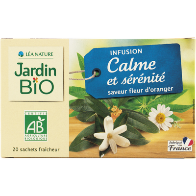 Infusion calme et sérénité JARDIN BIO, 20 sachets, 30g