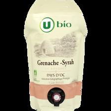 Pays d'Oc grenache syrah IGP rosé Le Bosquet U BIO 1,5L
