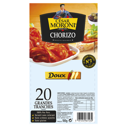 Chorizo doux MORONI 20 grandes, 100g