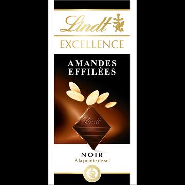 Lindt Tablette De Chocolat Noir Et Amandes Effilées Excellence Lindt, 100g