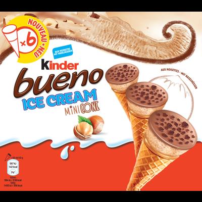 Mini cônes ice cream bueno KINDER, x6 soit 240g