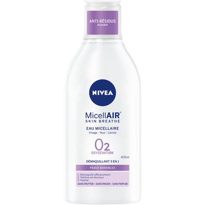 Démaquillant visage waterproof biphase micellaire NIVEA, flacon de 400ml