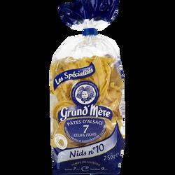 Pâtes d'Alsace Nids 10mm pâtes IGP 7 oeufs frais GRAND MERE, paquet de250g