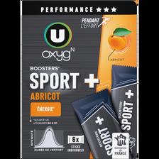 Booster sport + goût abricot U OXYGN, paquet de 180g