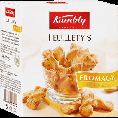 Snacks feuilletés au beurre et gruyère Suisse Feuillety's KAMBLY, 75g