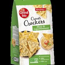 Crackers veggie maïs et légumineuses noir BIO CEREAL BIO, paquet de 80g
