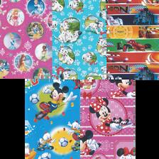 Papier cadeau motifs Walt Disney assortis, 2mX0.70m