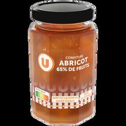 Confiture abricot 65% de fruits U, 300g