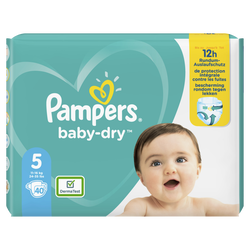 Couches baby dry langes géant taille 5 PAMPERS x40