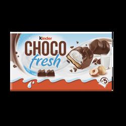 Choco Fresh fourré lait et noisette KINDER étui x5 102g