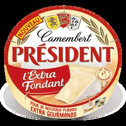 Camembert lait pasteurisé extra fondant 29%mg PRESIDENT 250G