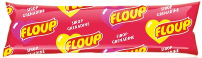 4 FLOUP SIROP GRENADINE