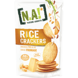 Crackers saveur fromage NATURE ADDICTS, 70g