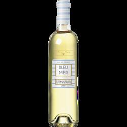 Vin blanc Pays d'Oc sauvignon Bleu de mer, bouteille de 75cl